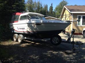 21FT STRIPER Boat with 5.8 Inboard Cobra -
